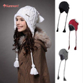 Оптовая продажа цена шляпы Earflap шляпа бренд Kenmont шапочки высокое качество женщин шапки шляпы шляпа вязаный шерстяной Skullies кап B-1140