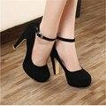 Envío libre 2016 Bombas de la mujer zapatos de tacón grueso otoño ol zapatos de tacón alto femeninos de la tendencia de los zapatos de tacón alto femenino zapatos