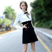 New spring Dress High Quality Korean Fashion shirt Dresses Career OL Slim Package Hip Elegant Ladies Dress Vestidos G26