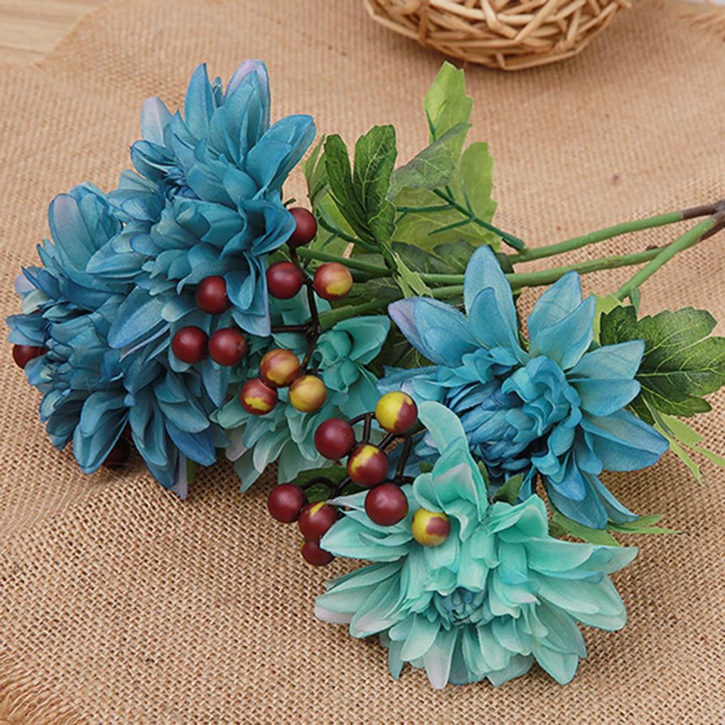 Artificial Flower Wedding Home Decor Bouquet Dahlia Silk Flower