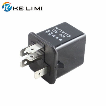 цена на KELIMI 12V 40A Relay 5 Pins Car lighting Dimmer Relay High voltage charge Relays