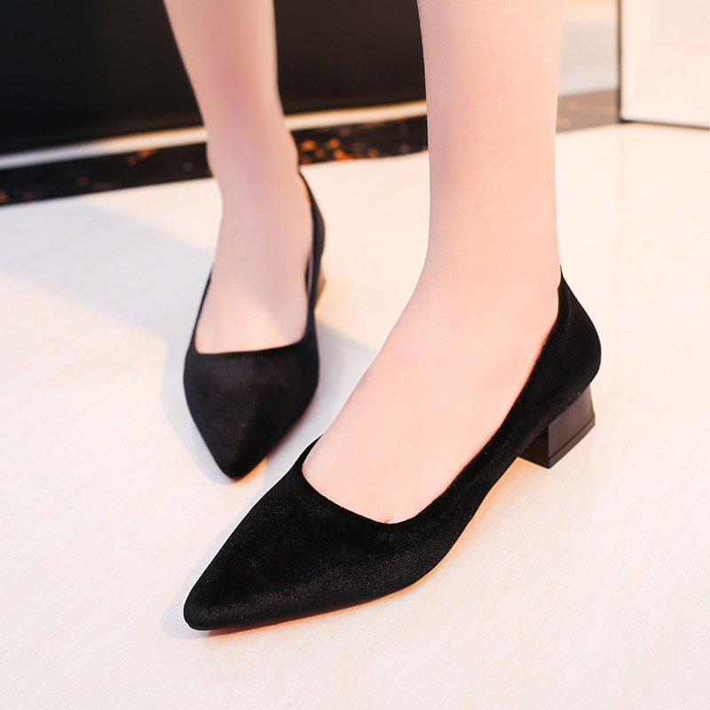 Low heel black dress shoes women