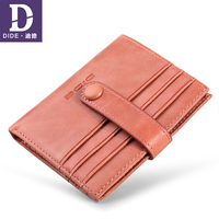DIDE Genuine Leather Wallet Female 2018 Pink Lady Short Wallets card holder Mini Small ladies wallet womens wallets and purses