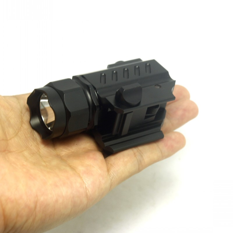 Tinhofire G02 600 Lumens XP-G R5 LED 2 Mode 16340/CR123A Tactical Hunting Flashlight Rifle Shotgun Weapon Light