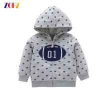 ZOFZ Baby Jackets For Girls New Fashion Baby Clothes Print Cotton Sweatshirts For Bebes One Piece