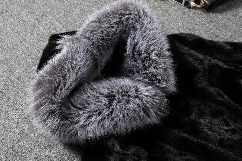 Mode Conception Luxe Moyen Femmes Nouveau Manteau 2018 Vison Femme De Fourrure Faux Dames white Renard D'hiver Manteaux Fausse Long Black f5qvwxT