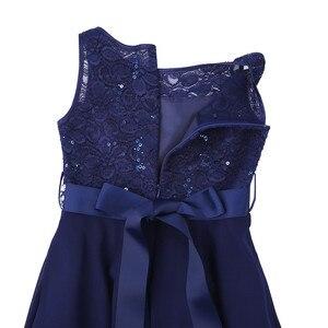 Image 5 - אלגנטי ילדי בנות פרח נסיכת טול תחרה שמלת תינוק ילדים המפלגה שושבינה כדור שמלת טוטו שמלות ילדי בגדים