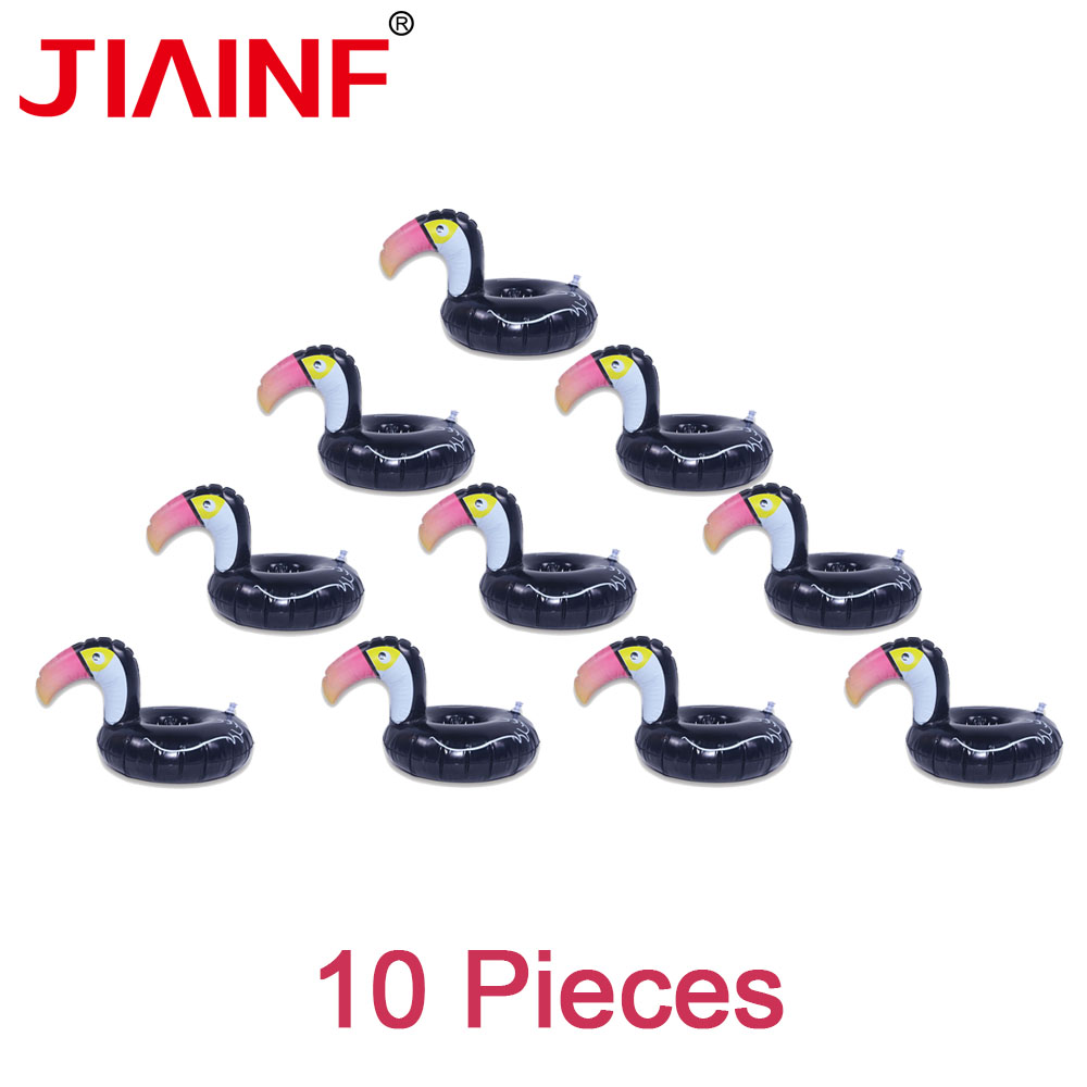 JIAINF Summer 2018 Water Toys Black Toucan Cup Holder Inflatable Drink Holder Pool Float Kids Toy Bathing Party Water Recreation