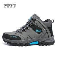 DEKABR Men Outdoor Mountain Climbing Shoes Non Slip Waterproof Hiking Shoes Men Cross Country Hunting Shoes
