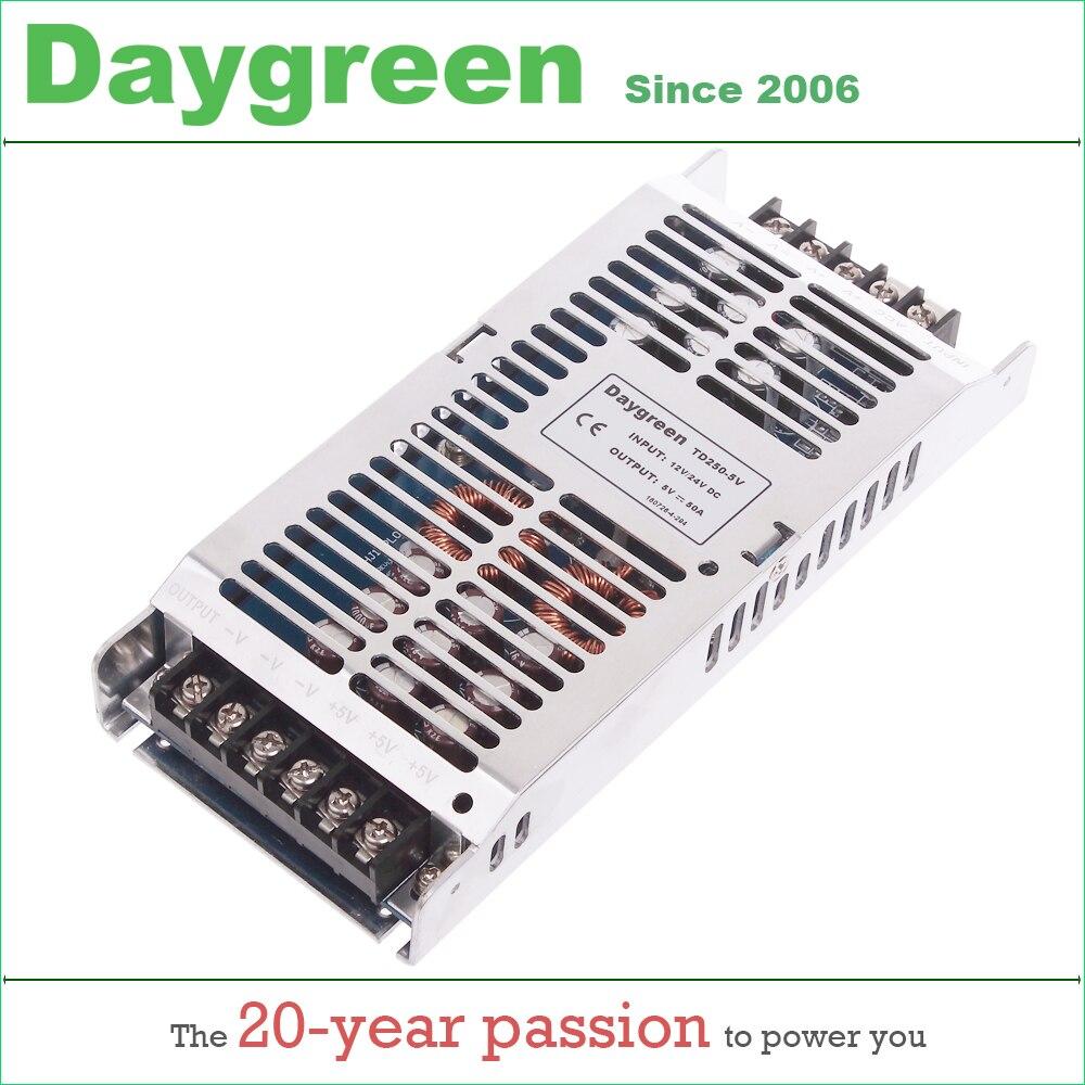 12V to 5V 50A 24V to 5V 50 AMP (12/24V to 5V 50A 40A 30A) Newest DC DC Step Down Converter Reducer B50-1224-05 LED Module Power