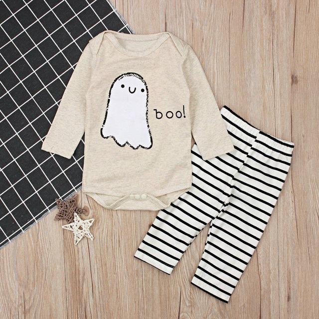 e21a23b1b01 The new cute trend 2PCS Set Baby Boy Girls Long Sleeve Tops Romper and  Pants Leggings