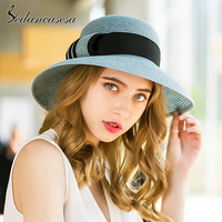 Sedancasesa Soft Foldable New Sun Visors Cap Wide Brim Lady Women Summer Sun Hats Beach Hats for Girls Straw Hat Chapeau