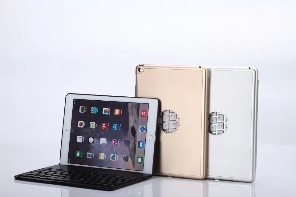 Ultra Thin Aluminum Wireless Bluetooth Keyboard Case For iPad Air 2 iPad 6 With Stand Protective Case Cover