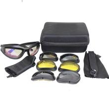 2017 New UV400 C5 Hiking Tactical Goggles Outdoor Fishing Hunting Shooting Eyewear Sunglasses for Men Women