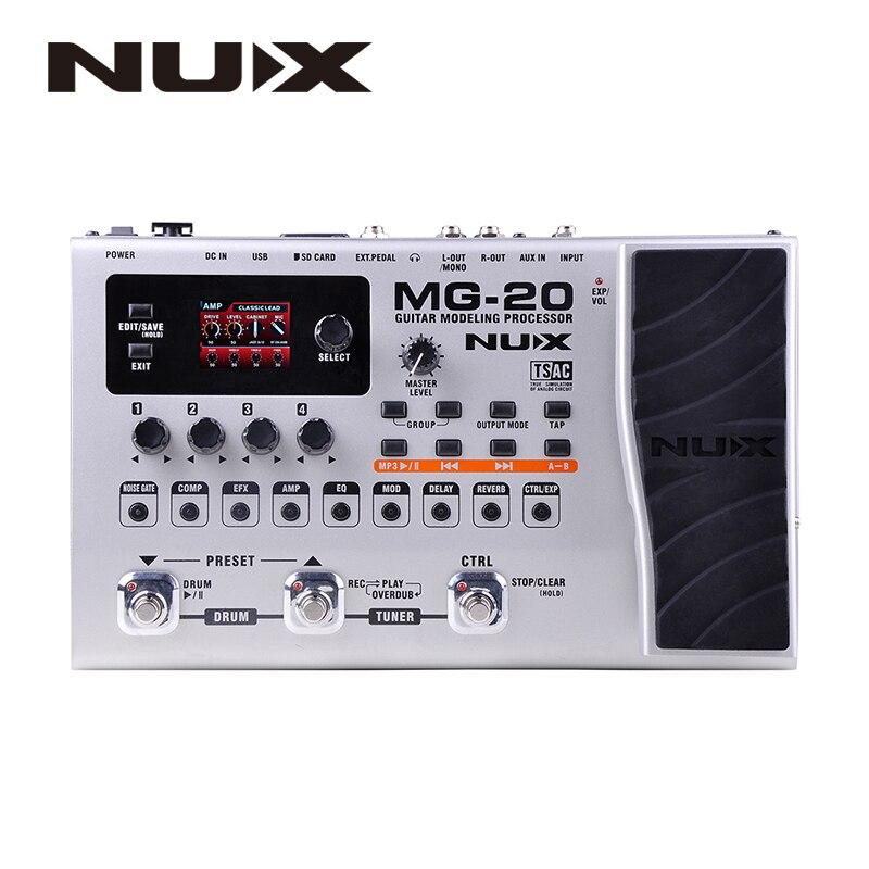 NUX MG-20 Guitare Multi-effets AMP Pédale Noir Digitech Multi Effets Modélisation Processeur Guitarra Boucle/Volume