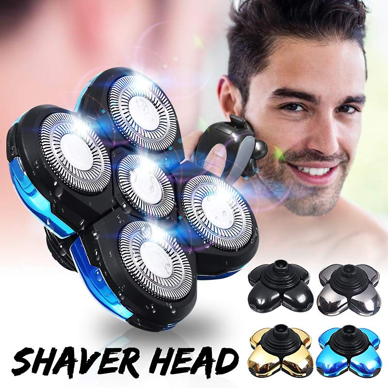Universal 5 Heads Blades Rechargeable Electric Shaver Razors Accessories For Alternate Floating Washable Electric 5D Shavers