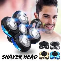 Uniwersalny 5 głowice ostrza akumulator elektryczne maszynki do golenia akcesoria dla alternatywnych pływające zmywalny elektryczny 5D maszynki do golenia