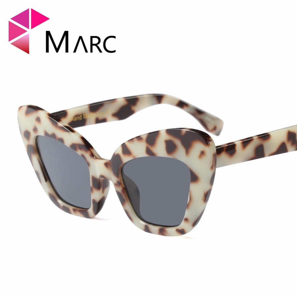 MARC 100%UV400 2018NEW WOMEN sunglasses Wrap Eyewear oculos Leopard Square fashion Plastic Resin gafas butterfly