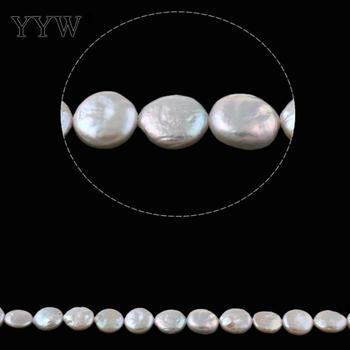 dd71075bb4a3 Cultivadas Moneda de perlas de agua dulce perlas naturales Blanco 11-12mm  aprox 0