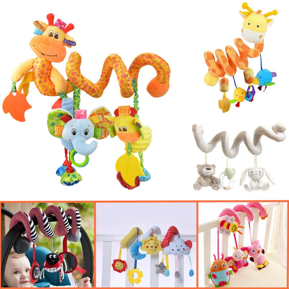 Baby Bed Stroller  Hanging  Toys Multipurpose Circle Round With Sound Paper and Mirror Caterpillar Children Boy Gift 20% off