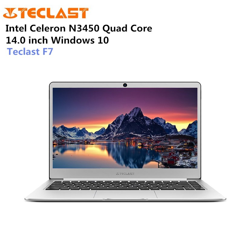 Teclast F7 Ordinateur Portable Windows 10 14.0 pouce Portable Intel Celeron N3450 1.1 GHz Quad Core 6 GB RAM 128 GB mem M.2 SSD L'expansion HDMI