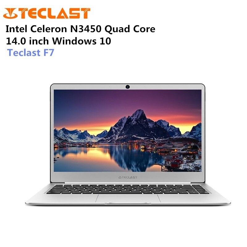 Teclast N3450 F7 Laptop Windows 10 Notebook Intel Celeron de 14.0 polegada 1.1 GHz Quad Core 6 GB de RAM 128 GB eMMC Expansão M.2 SSD HDMI