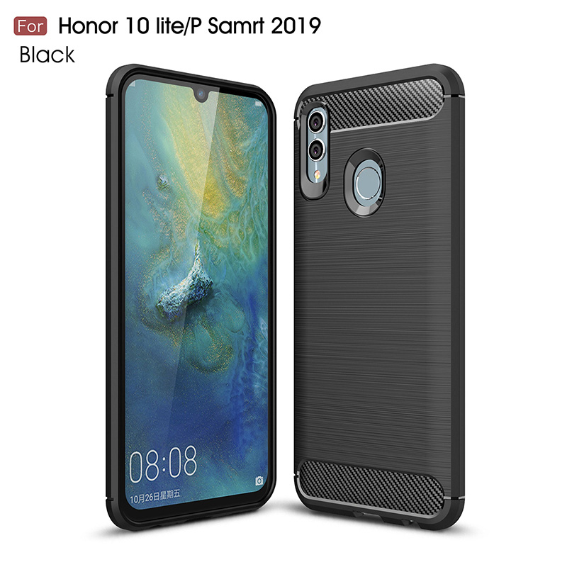 barbería De vez en cuando Mayo  Brushed silicone case carcasa for huawei p smart 2019 cases funda hoesje  carbon fiber tpu cover coque etui kryt tok|Fitted Cases| - AliExpress
