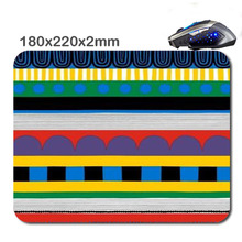 Stripe Creative Design 3D Printing High Quality Used For Home And Office Computer And Laptop Gaming Rubber Mouse Pad 180X220X2
