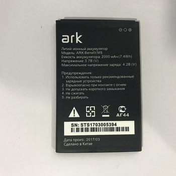 цена на For ark Benefit M5 M5 Plus M 5 batteries High quality 2000mAh Mobile Phone Li-ion Battery Replacement