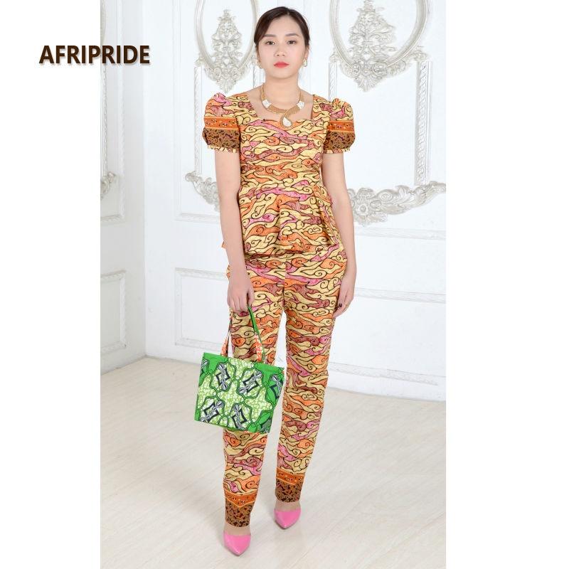 Kadınlar için afrika elbiseler moda iki parçalı takım set - Ulusal Kıyafetler - Fotoğraf 2