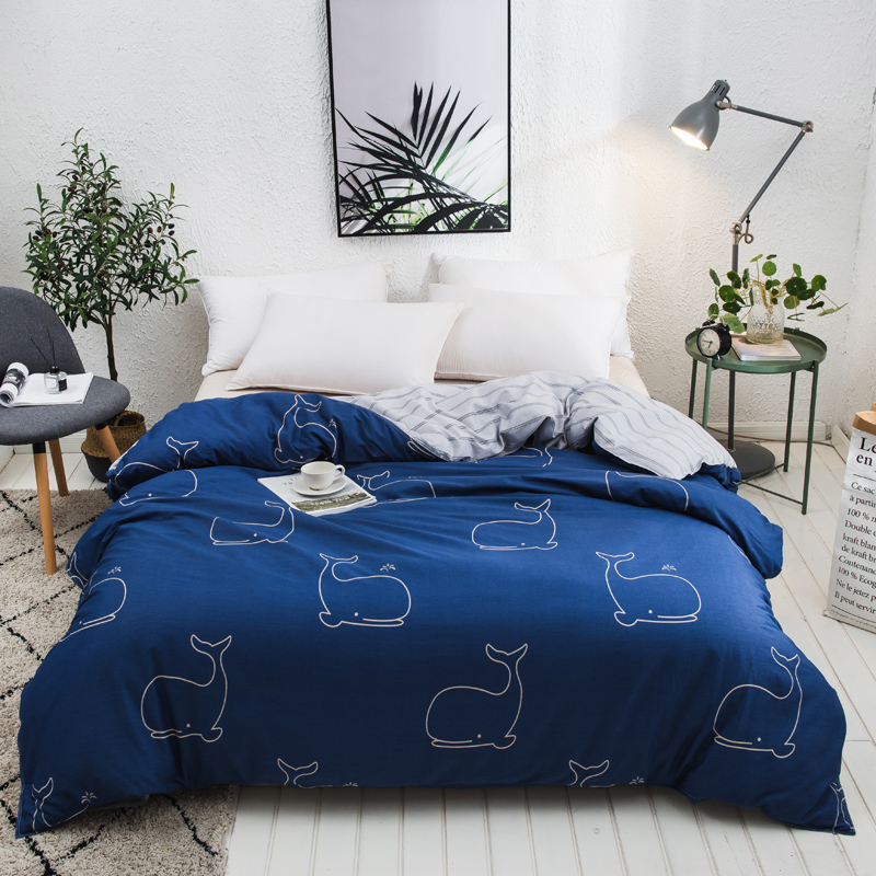 Light Blue Cartoon Pattern Bedding 1 Piece Duvet Cover With Zipper Cotton Quilt Or Comforter Or Blanket Case 220x240cm 5 Size  Light Blue Cartoon Pattern Bedding 1 Piece Duvet Cover With Zipper Cotton Quilt Or Comforter Or Blanket Case 220x240cm 5 Size