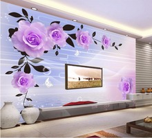 Custom Any Size 3D Relief rose Bedroom TV Background Wall Paper Home Decor Non-woven Mural Wallpaper for Living Room 3d flooring цена 2017