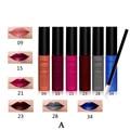 6pcs Long Lasting Lip Gloss+12pcs Lip Brushes Set For Sale 2016