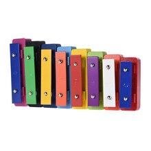 Красочные 8 NoteGlockenspiel ксилофон цветные колокольчики набор перкуссия музыкальное образовательное оборудование игрушка для детей