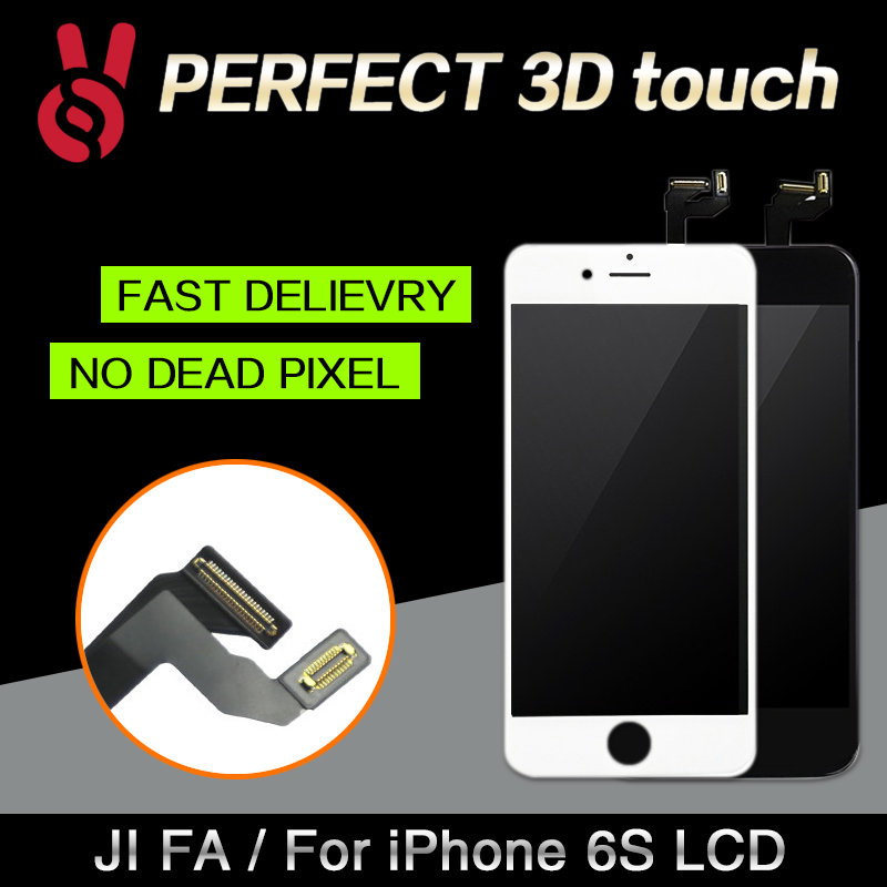 imágenes para 10 unids/lote 100% pixel no muertos para iphone 6s pantalla lcd Pantalla táctil de 4.7 de Reemplazo Digitalizador Asamblea Negro o Blanco envío DHL