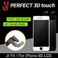 3pcs/lot 100%  No Dead Pixel for IPhone 6S LCD Display Touch Screen 4.7 Digitizer Assembly Replacement Black or White free DHL