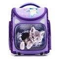 Школьные сумки для мальчиков и девочек с рисунком кота  водонепроницаемые дышащие детские школьные сумки с 3D рисунком  Детские ортопедичес...