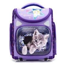 בנות בני חתול ילקוטי עמיד למים לנשימה ילדים 3D קריקטורה ילקוטי אורטופדי תרמילי בית ספר המוצ ילה Escolar