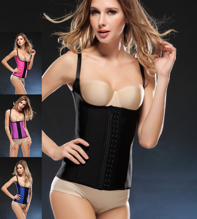 Funnygirl S- 6XL Plus size Latex Vest Waist Trainer   Corset   With Thin Strap Hot   Bustier     Corset   Corsetto Corsage Modeling Strap