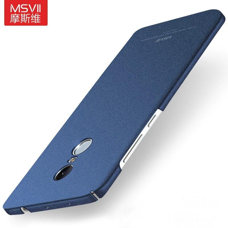 MSVII Cover For Xiaomi Redmi Note 4 Case Matte Hard Back Coque Slim Fashion Phone Housing For Xiaomi Redmi Note 4X Pro Prime