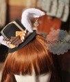 Японский harajuku сладкая лолита головные уборы шоколадное печенье уха зайчика шапочка косплей кролик повязка на голову ну вечеринку аксессуар