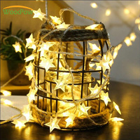 WoodPow 10M 100 LED Star String Lights Fairy Xmas Party Wedding Christmas Light Garden New Year