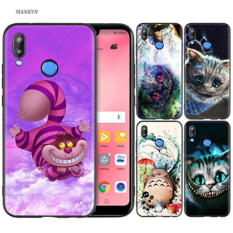 Силиконовый чехол для huawei P20 P10 P9 P8 Lite Pro 2017 P Smart + 2019 Nova 3i 3E чехол для телефона с Чеширским котом Тоторо Мой сосед