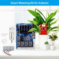 Elecrow Smart Watering Kit for Arduino Automatic Gardening Water Plant DIY Kit Outdoor with Capacitive Soil Sensor LCD Display