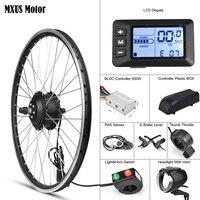 MXUS Electric Bike Conversion Kit Front Wheel Motor 350W E Bike Kit 48V 36V Rear Hub Motor 26 Bicycle BLDC Controller with LCD