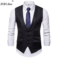 High quality Dress Vests Men Slim Fit Mens fashion Suit Vest Male Waistcoat Gilet Homme Casual Sleeveless Formal Business vest