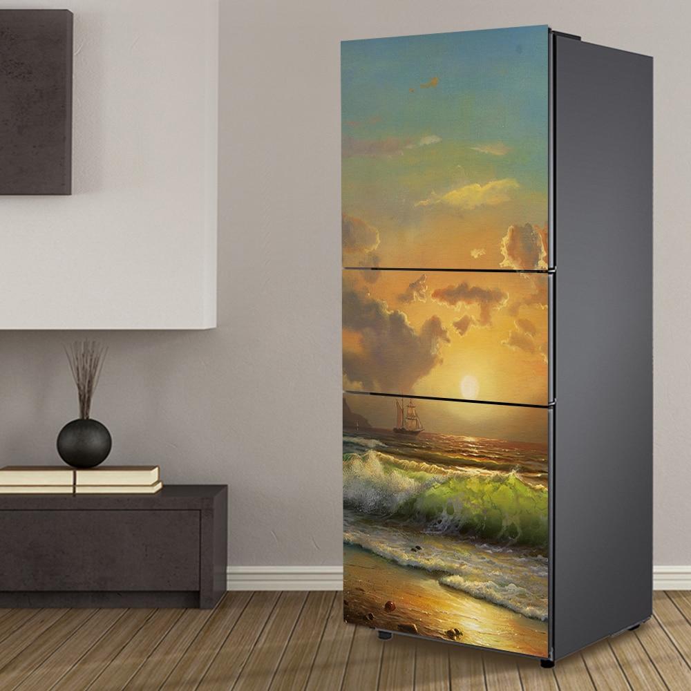 ΞYazi PVC Kendinden Yapışkanlı Buzdolabı Etiketler Wrap Yenilenmiş - Pvc antik optik