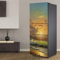 Yazi PVC Selbstklebende Kühlschrank Aufkleber Wrap Refurbished Kühlschrank Tür Aufkleber Tapete Schale Stick 60x150 cm 60x180 cm