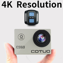 "COTUO CS60 Action camera Ultra HD 4K/30fps WiFi 2.0"" 170D underwater 30m waterproof 1080p Helmet sport Camera go extreme pro cam"
