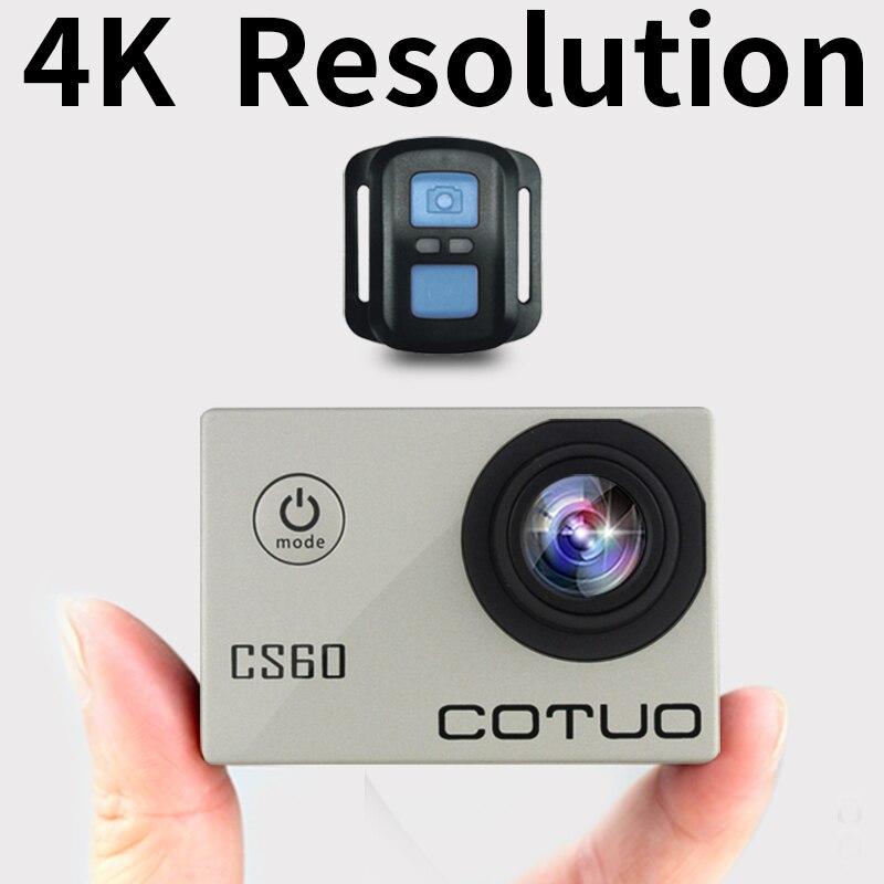 COTUO CS60 D'action caméra Ultra HD 4 K/30fps WiFi 2.0 170D sous-marine 30 m étanche 1080 p Casque sport Caméra aller extrême pro cam